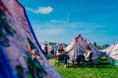 Easy Tent fotografi på Tomorrowland