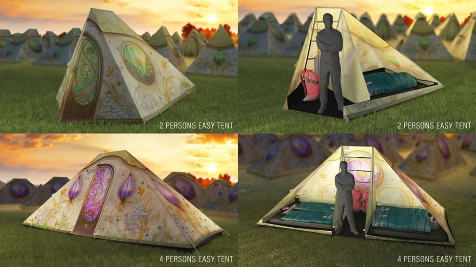 Olika Easy Tent på Tomorrowland